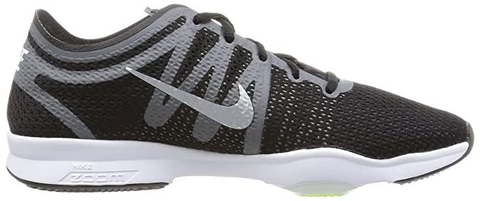 e470c1f684fa Nike AIR Zoom FIT 2 Womens Fashion-Sneakers 819672-001 8. 5 -  Black White Dark Grey WLF Grey  Amazon.in  Shoes   Handbags