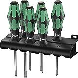 Wera 335/350/355/6 05105622001 Jeu de tournevis Kraftform Plus Lasertip + Rack 6 pièces