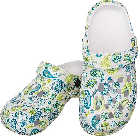 Date Sneaker Femmes Bleu Vert Blanc Motif Floral