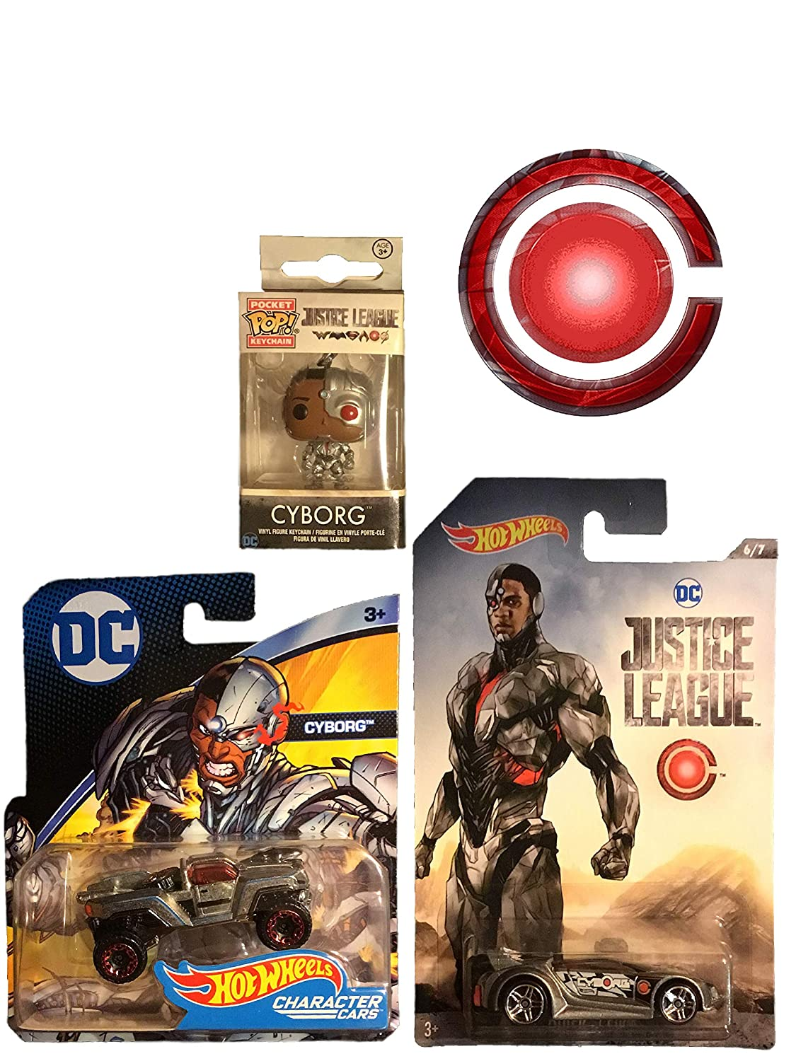 Amazon.com: Hot Wheels Cyborg Bundle with Justice League 6/7 ...