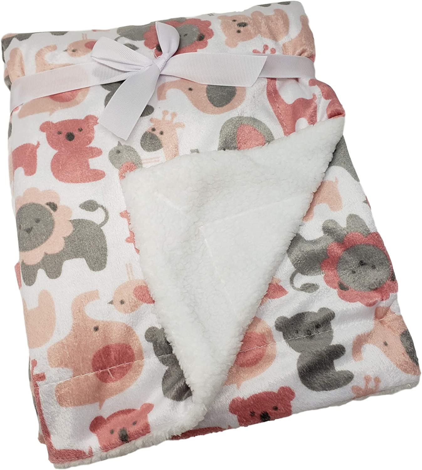 Minky Blanket Cotton Baby Blanket Infant size Small Baby Blanket Nursery Travel Size Soft Dimple Dot Baby Shower Gift