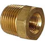 "Anderson Metals 56110 Brass Pipe Fitting, Hex Bushing, 3/8"" NPT Male Pipe x 1/8"" NPT Female Pipe"