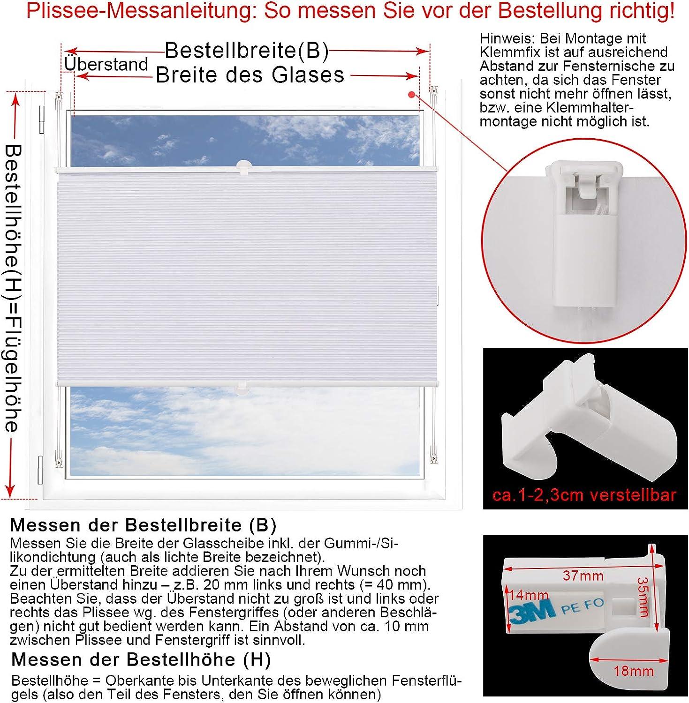 WOLTU Tenda Plissettata a Nido dApe Colore Bianco-Bianco 55x130 cm WPS0003ws Tende Avvolgibili Oscurante al 100/% per Finestra Porte in Poliestere