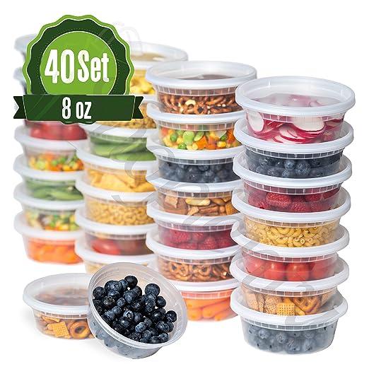 Contenedores de almacenamiento de alimentos de plástico con tapas ...