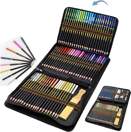 96 Lápices de Colores en estuche con cremallera, Estuche Lapices dibujo profesional para Adultos y Niños - Ideal para Colorear, Mandalas Colorear Adultos, Material Escolar: Amazon.es: Oficina y papelería