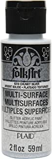 product image for FolkArt Acrylic Chunky Glitter Paint in Assorted Colors (2 oz), Silver