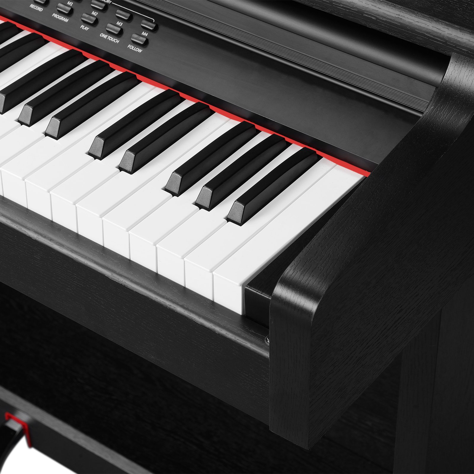 LAGRIMA Digital Piano, 88 Keys Electric Keyboard Piano for Beginner(Kids/Adults) w/Music Stand+Power Adapter+3 Metal Pedals+Instruction Book, 2 Headphone Jack/Midi/USB Audio Output by LAGRIMA (Image #4)