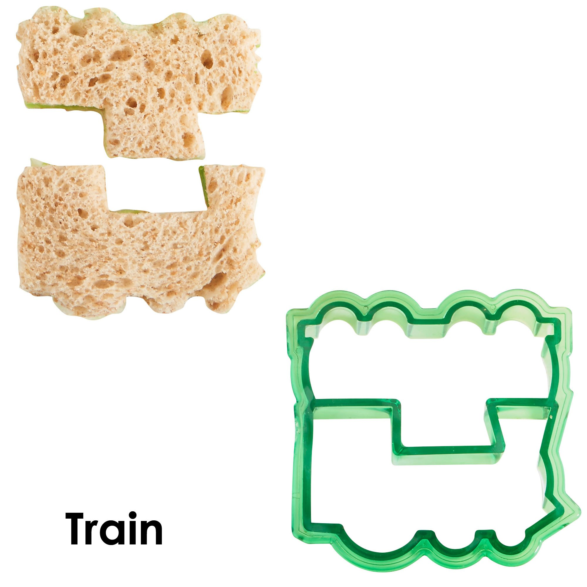 VonShef Fun Cookie Cake and Sandwich Cutter Shapes for Kids, Set of 5 Shapes Dinosaur, Dolphin, Heart, Star and Train, Multi Colored, 5pc by VonShef (Image #5)