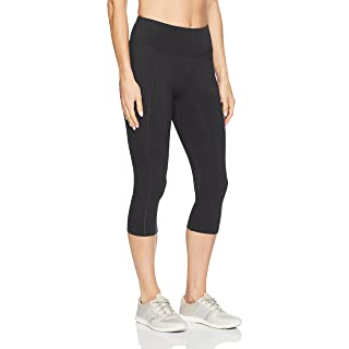Marika Women's Carrie Slimming Capri Leggings, Heathered Charcoal, Medium
