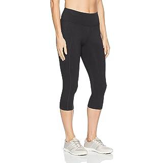 Marika Women's Carrie Slimming Capri Leggings, Heathered Charcoal, Medium
