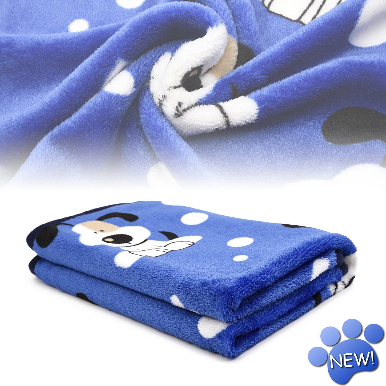 kiwitatá Super Soft Puppy Dog Cat Blanket Premium Flannel Dog Kitten Sleep Bed Cover Mat for Dog Beds/Crate/Kennels (Large,41×30 inch)
