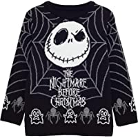 Disney The Nightmare Before Christmas Jack Telaraña Niñas de Punto Jumper | mercancía Oficial | Feo Feria suéter de…