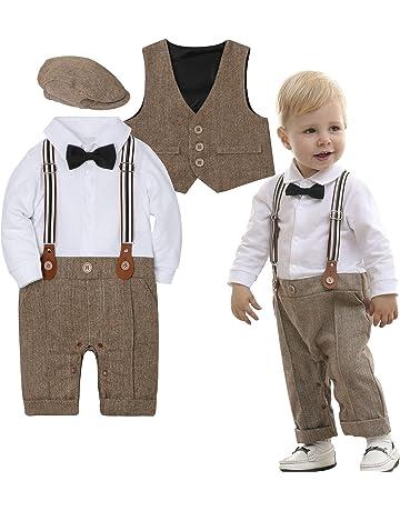 Pantaloni con Bretelle Cappello a Berretto Camicia con Farfallino 1-4 Anni mintgreen Set di 4 Pezzi per Neonati Gilet