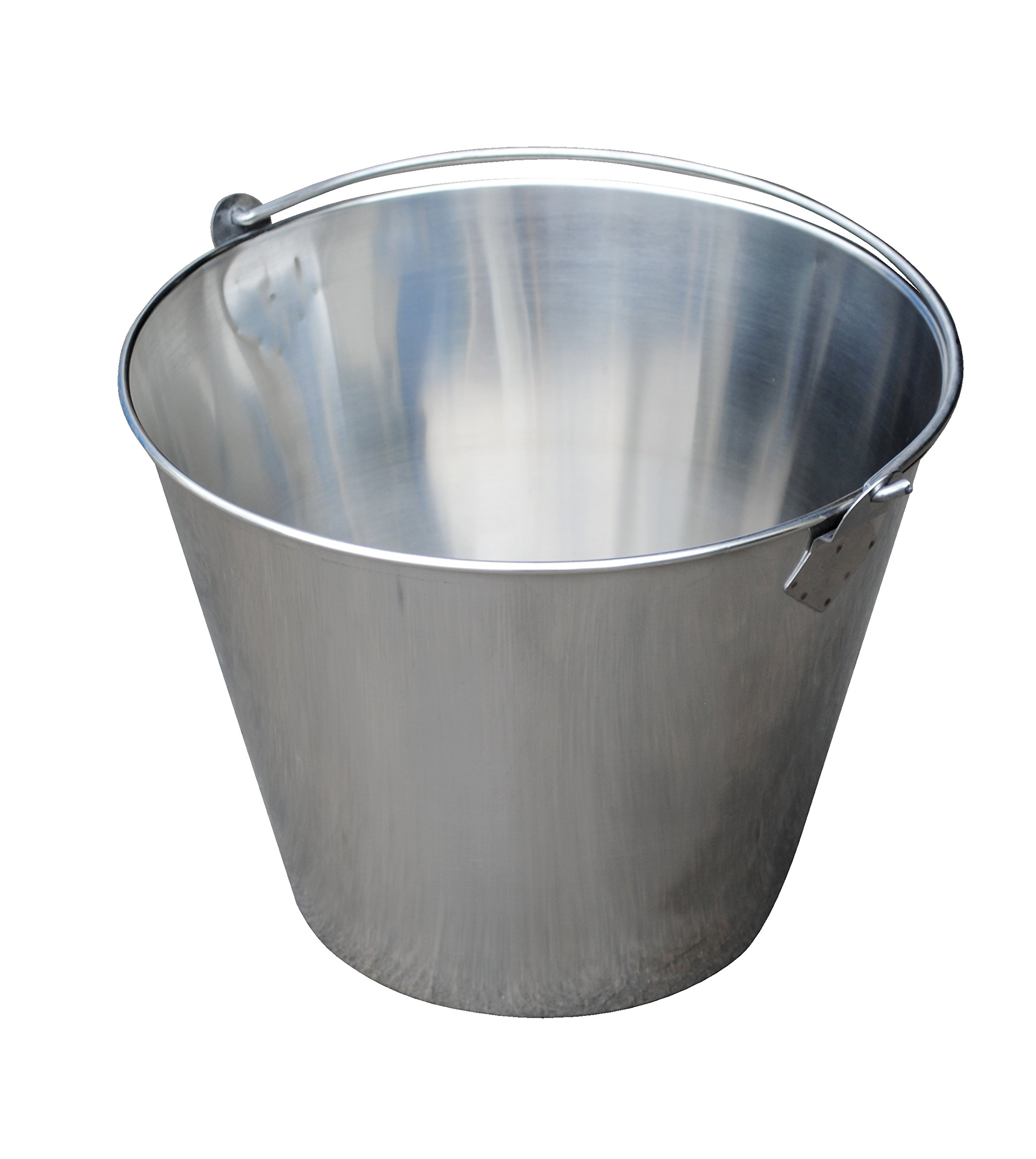 Vestil BKT-SS-325 Stainless Steel Bucket, 10'' Depth, 3.25 gallon, 88 pound Capacity by Vestil