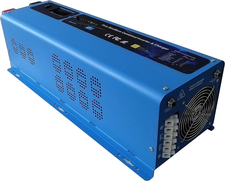 DC 24V 48V A 220V 6000W Pico 18000W Inversor De Onda Sinusoidal Pura Convertidor De Potencia Cargador De CA Pantalla LED, Inversor Solar De Baja Frecuencia Fuera De La Red