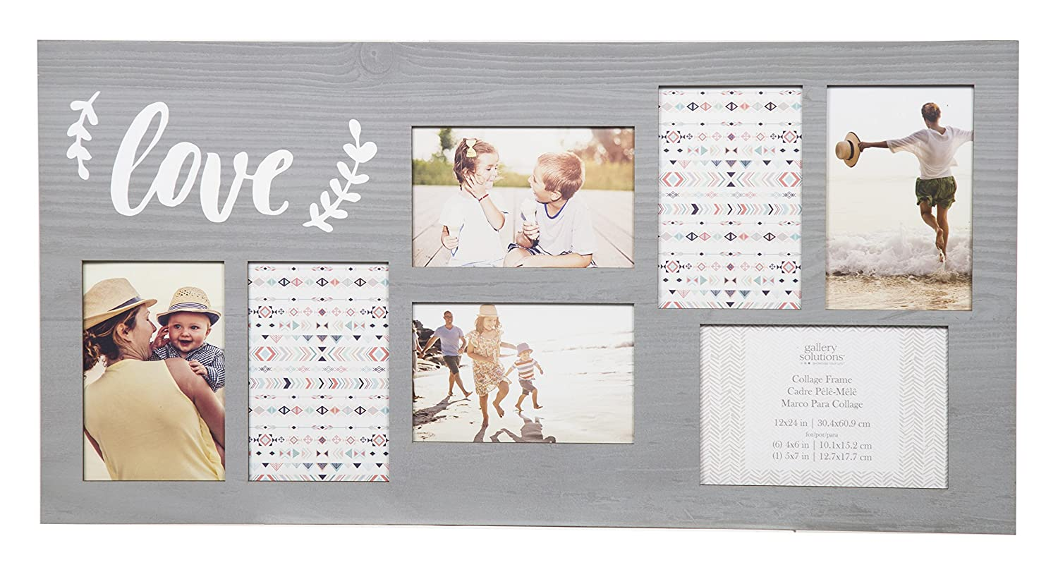 Amazon.com - GALLERY SOLUTIONS 12x24 Greywash Distressed Wood 7 ...
