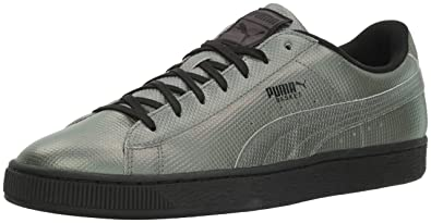 PUMA Men's Basket Classic Holographic Fashion Sneaker, Black, ...