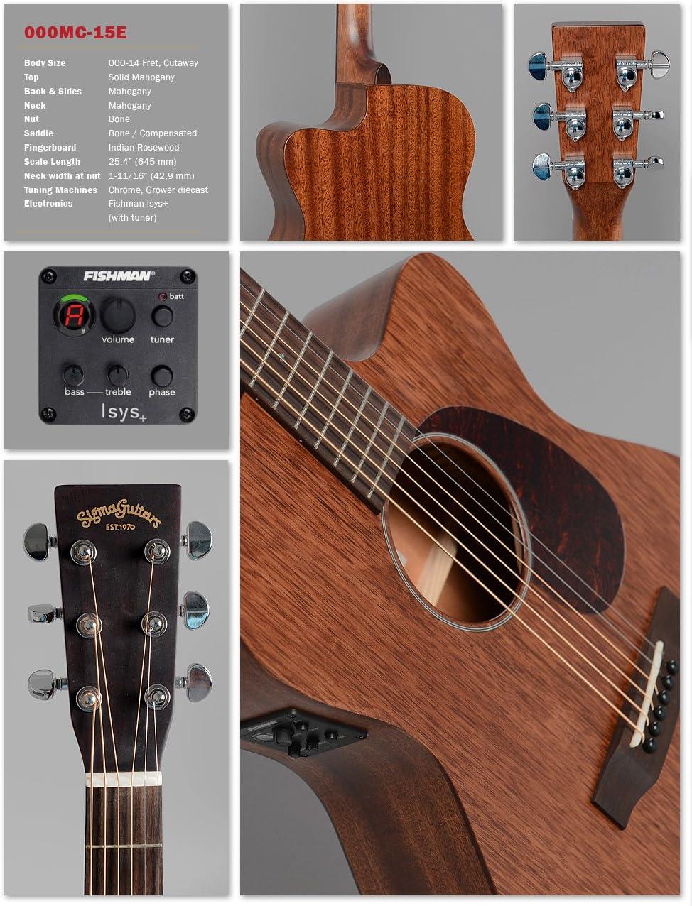 Western de guitarra Sigma 000 MC de 15E Fishman ISYS 5TC8256 ...