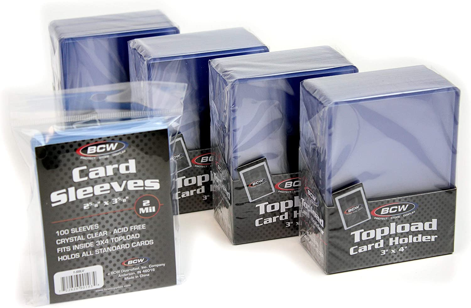 BCW 100-Count Card Toploaders and Card Sleeves