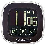YOYUNG Digital Kitchen Timer,Large LCD Display,Loud Alarm, Magnetic Back,Stand,Portable,Black