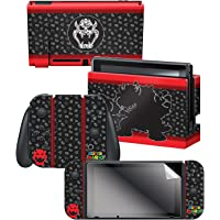 """Controller Gear Nintendo Switch Skin & Screen Protector Set, Officially Licensed By Nintendo - Super Mario Evergreen """"Bowser Silhouette"""" - Nintendo Switch"""
