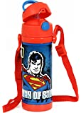 Cello Champ Super Man Stainless Steel Sipper Water Bottle, 600ml, Red