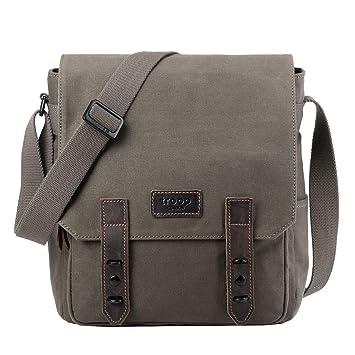 66060329b94f Troop London Canvas Leather Messenger Bag