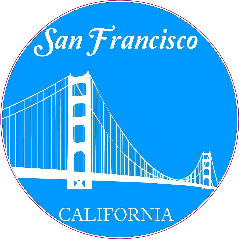 U s custom stickers san francisco golden gate bridge circle sticker 4