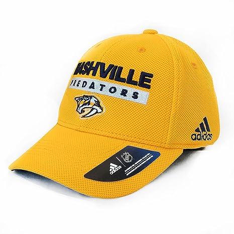 5436820e0c adidas Nashville Predators NHL Authentic Pro Locker Room Flex Cap
