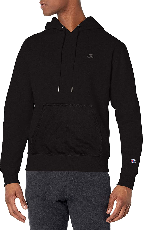 Champion Men's Powerblend Fleece Pullover Hoodie at  Men's Clothing store