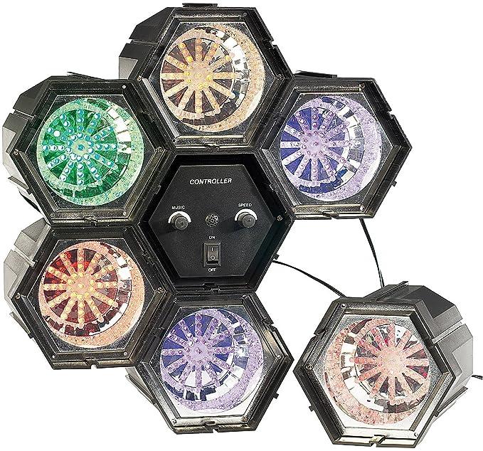 Lunartec Lichterorgel: 6-Kanal Lichtorgel mit 282 LEDs mit Klang-Steuerung (Lichtorgel musikgesteuert)
