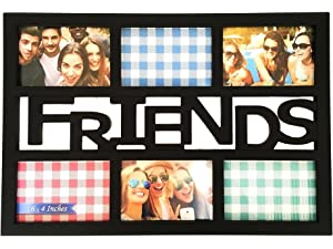 bestbuy frames friends black 6 opening 4x6 wall hanging collage picture frame artisitc