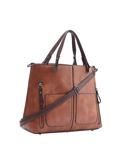 5bc0b5c720e4c Legal Bribe Women's PU Shoulder and Handheld Bag -Tan, LB992: Amazon ...