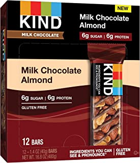 product image for KIND Bars, Milk Chocolate Almond, Low Sugar, Gluten Free Bars, 1.4 Ounce, 12 Count