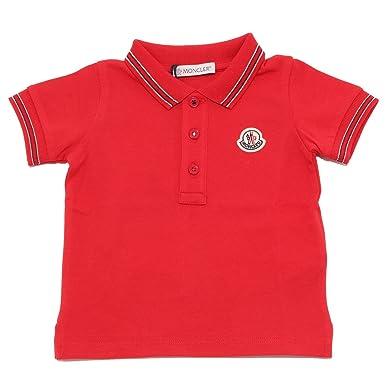 MONCLER - Polo - para niño Rojo Rojo: Amazon.es: Ropa y accesorios