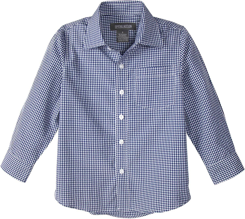 Spring Notion Baby Boys Long Sleeve Gingham Shirt ERF939-SNB-939
