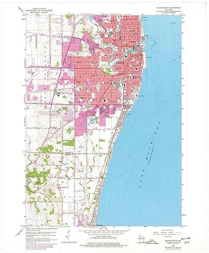 Racine Wisconsin Map.Amazon Com Wisconsin Maps 1958 Racine South Wi Usgs Historical