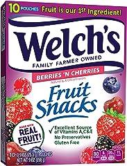 Welch's Fruit Snacks Berries N Cherries, 9 oz