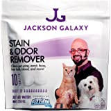 Jackson Galaxy Pet Stain and Odor Eliminator by Fizzion - Removes Pet Urine and Feces Safely With The Professional Cleaning power Of CO2 (10 Tablets) Makes 230oz
