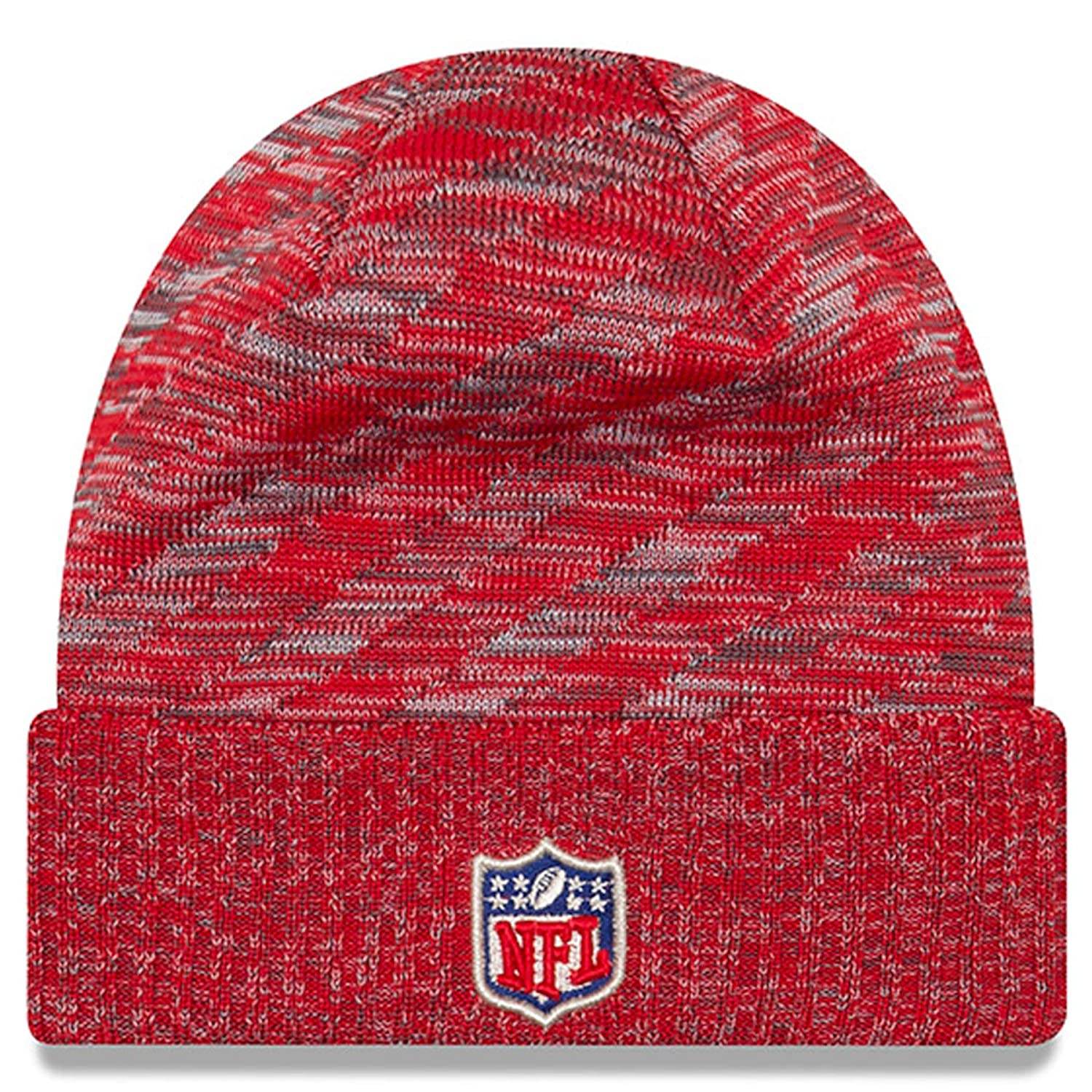 d66755c060d Amazon.com   New Era Kansas City Chiefs Beanie NFL 2018 On Field TD Knit Cap  Red Adult One Size   Sports   Outdoors