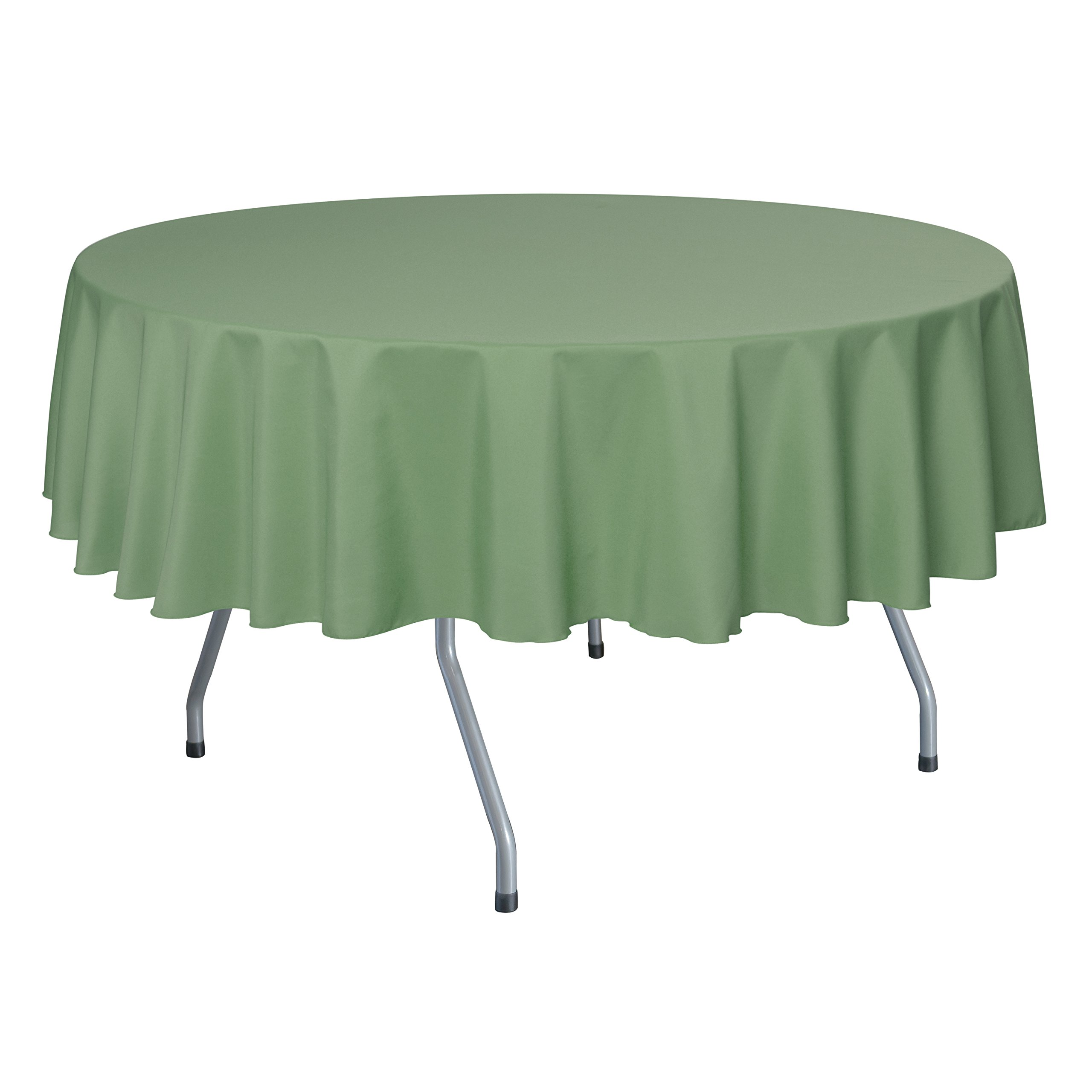 Ultimate Textile (10 Pack) 72-Inch Round Polyester Linen Tablecloth - for Wedding, Restaurant or Banquet use, Sage Green