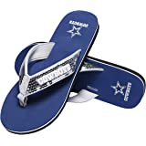 f0b60e3a83ffc3 Amazon.com  NCAA Womens Team Logo Sequin Flip Flops Sandals  Sports ...