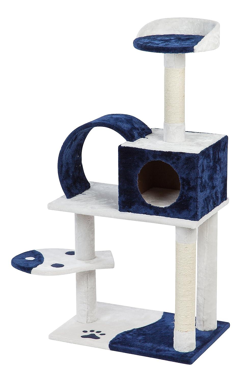bluee IRIS Plush Cat Tree 4-Tier, bluee