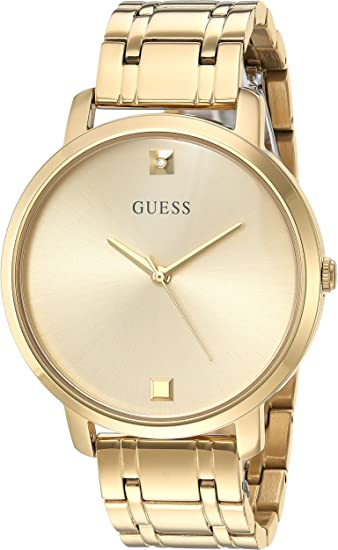 GUESS Women's Quartz Watch with Stainless Steel Strap, Gold, 24 (Model: U1313L2)