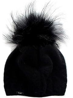 df4ccaba3e5 Frost Hats Cashmere Cable Hat with Detachable Genuine Fox Fur Pom CSH-735SRN