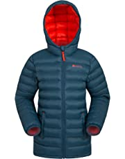 Mountain Warehouse Seasons Boys Padded Jacket - Water Resistant Rain Coat, Lightweight Kids Winter Jacket, Elastic Cuffs & 2 Front Pockets Casual Jacket - for Travelling