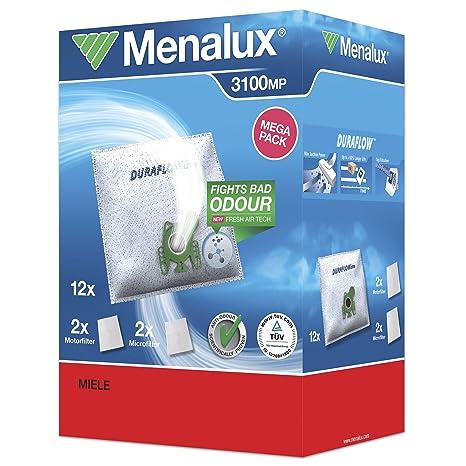 Amazon.com: Menalux 3100 MP 12 x Bolsas para aspiradora con ...