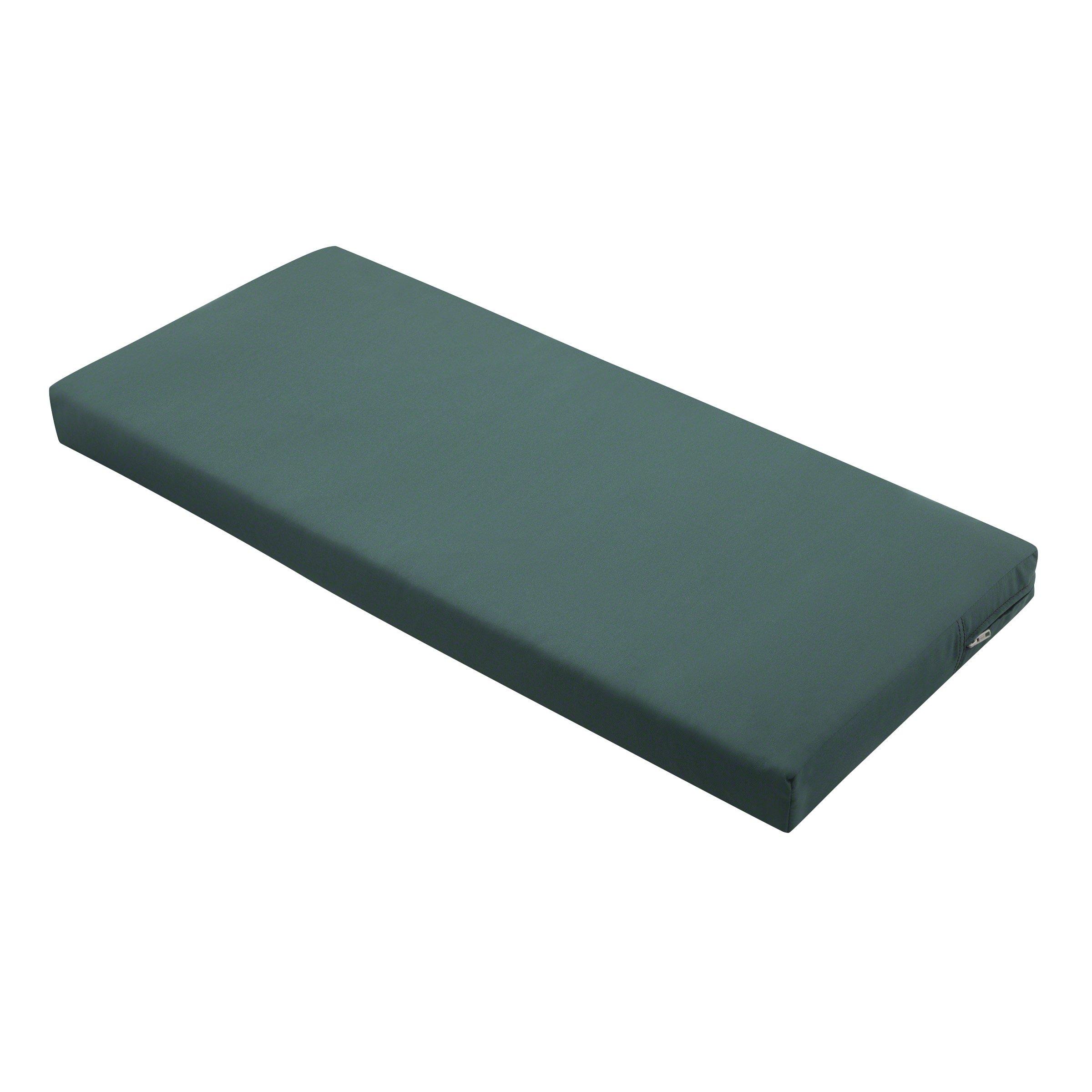 Classic Accessories Ravenna Outdoor Patio Bench/Settee Cushion, Mallard Green, 48'' W x 18'' D x 3'' T