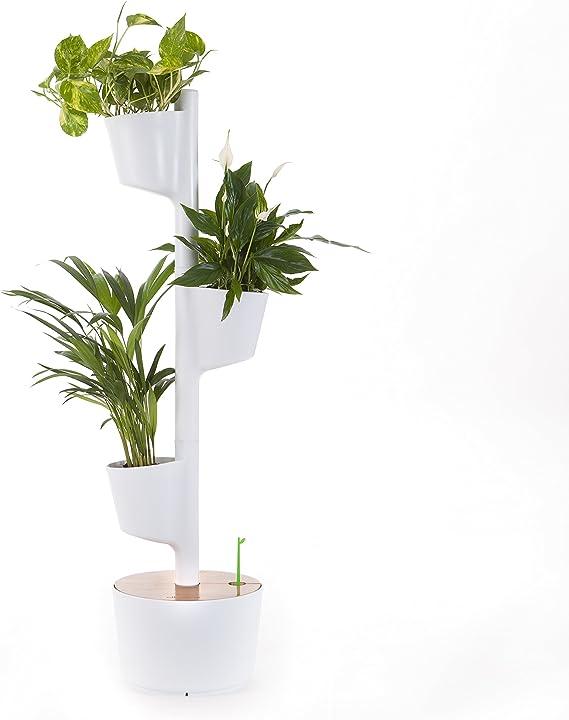 Citysens - Macetero Vertical con Autorriego, Blanco, 3 Macetas ...