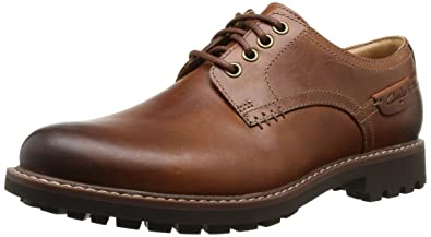 Clarks Montacute Hall, Mens Lace-up Flats, Brown, 6 UK